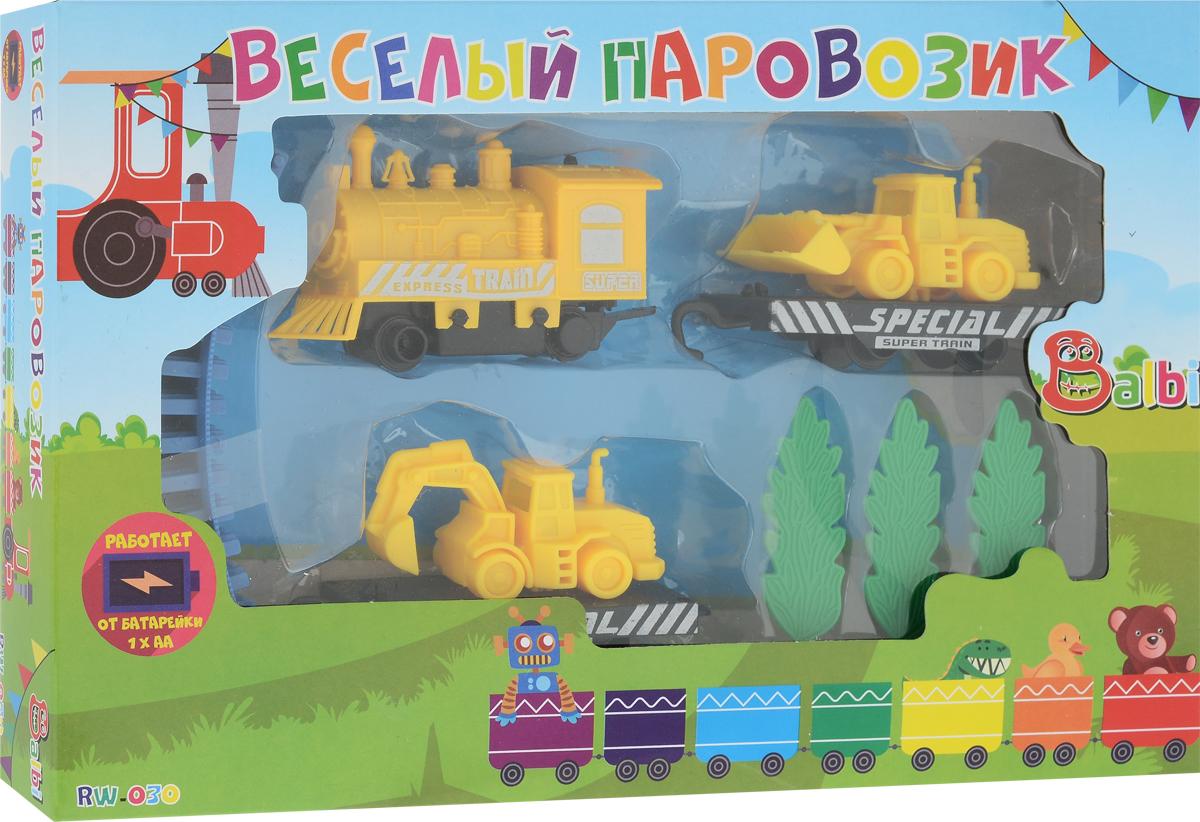 Balbi Железная дорога Веселый паровозик balbi деревянная железная дорога 145 деталей