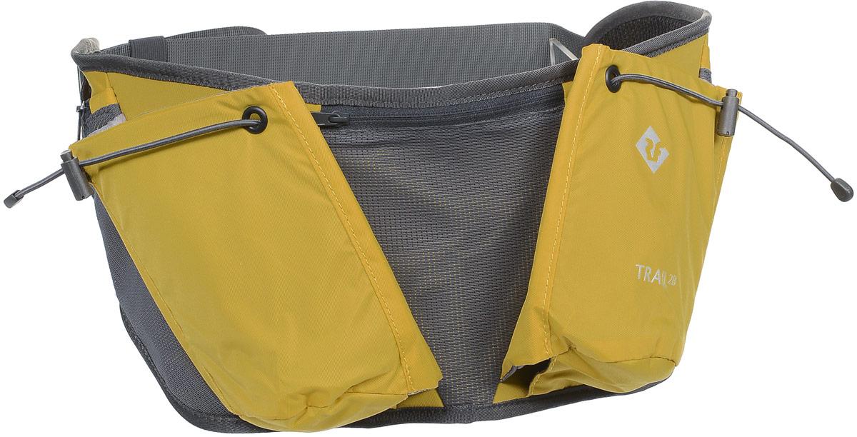 Сумка поясная Red Fox Trail 2B, цвет: янтарь. 10540891054089Сумка на пояс Red Fox Trail 2B - это удачный выбор для спортсменов и любителей пеших походов. Модель имеет два нашивных кармана для бутылки и фляги с водой и три кармана на молнии. Поясной ремешок сумки регулируется по размеру.Размер сумки: 62 х 19 см.