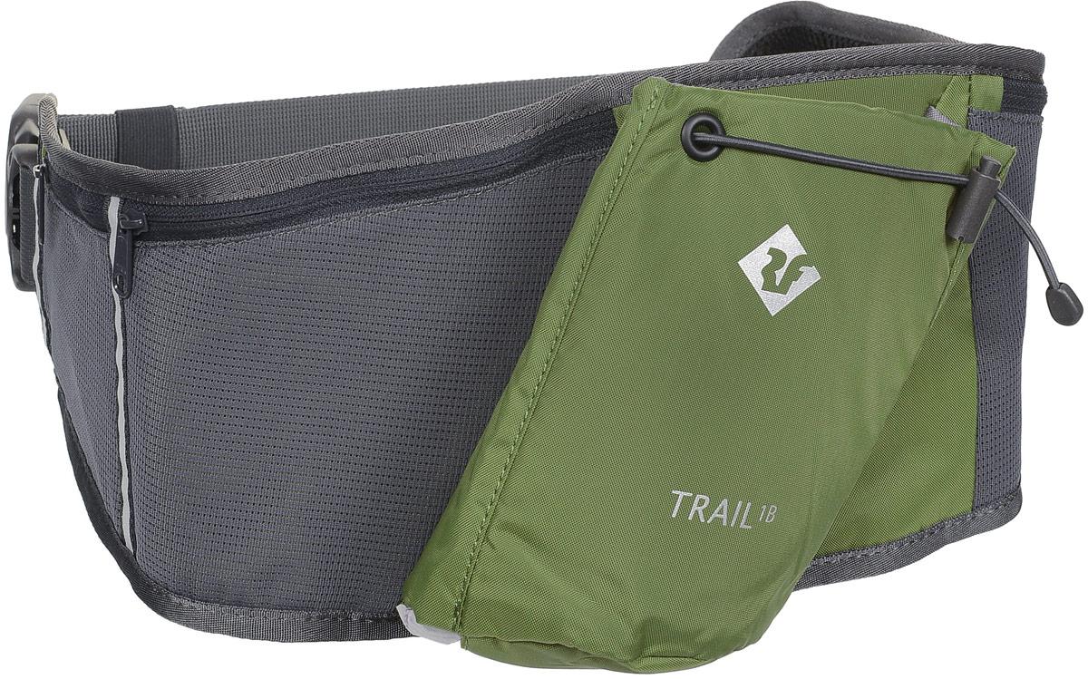 Сумка поясная Red Fox Trail 1B, цвет: хаки. 10540901054090Сумка на пояс Red Fox Trail 1B - это удачный выбор для спортсменов и любителей пеших походов. Модель имеет один нашивной карман для бутылки и фляги с водой и три кармана на молнии. Поясной ремешок сумки регулируется по размеру.Размер сумки: 64 х 18 см.