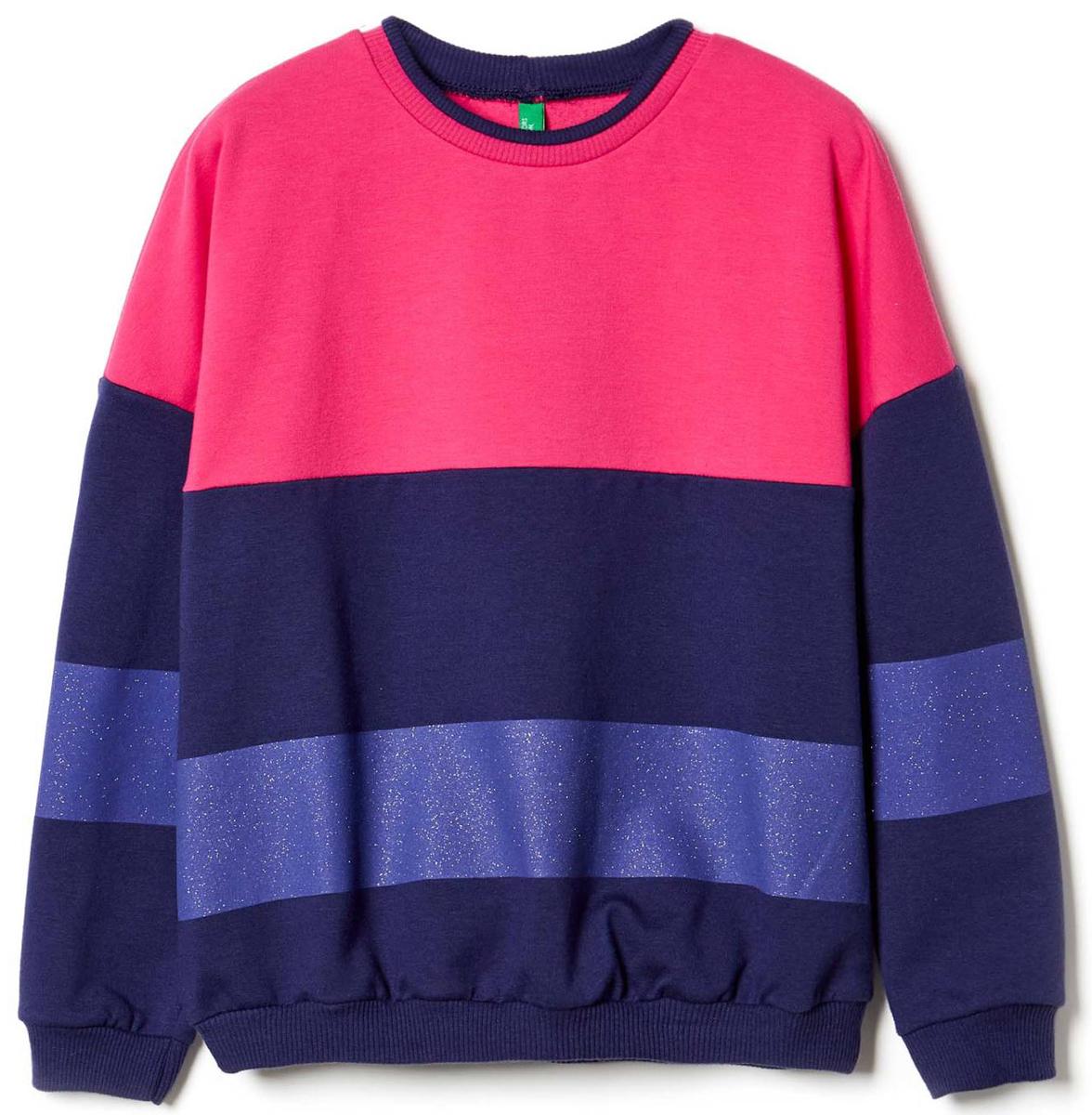 Джемпер для девочки United Colors of Benetton, цвет: розовый. 3I1KC13AL_2J2. Размер 1403I1KC13AL_2J2Джемпер для девочки United Colors of Benetton выполнен из эластичного хлопка. Модель с круглым вырезом горловины и длинными рукавами.
