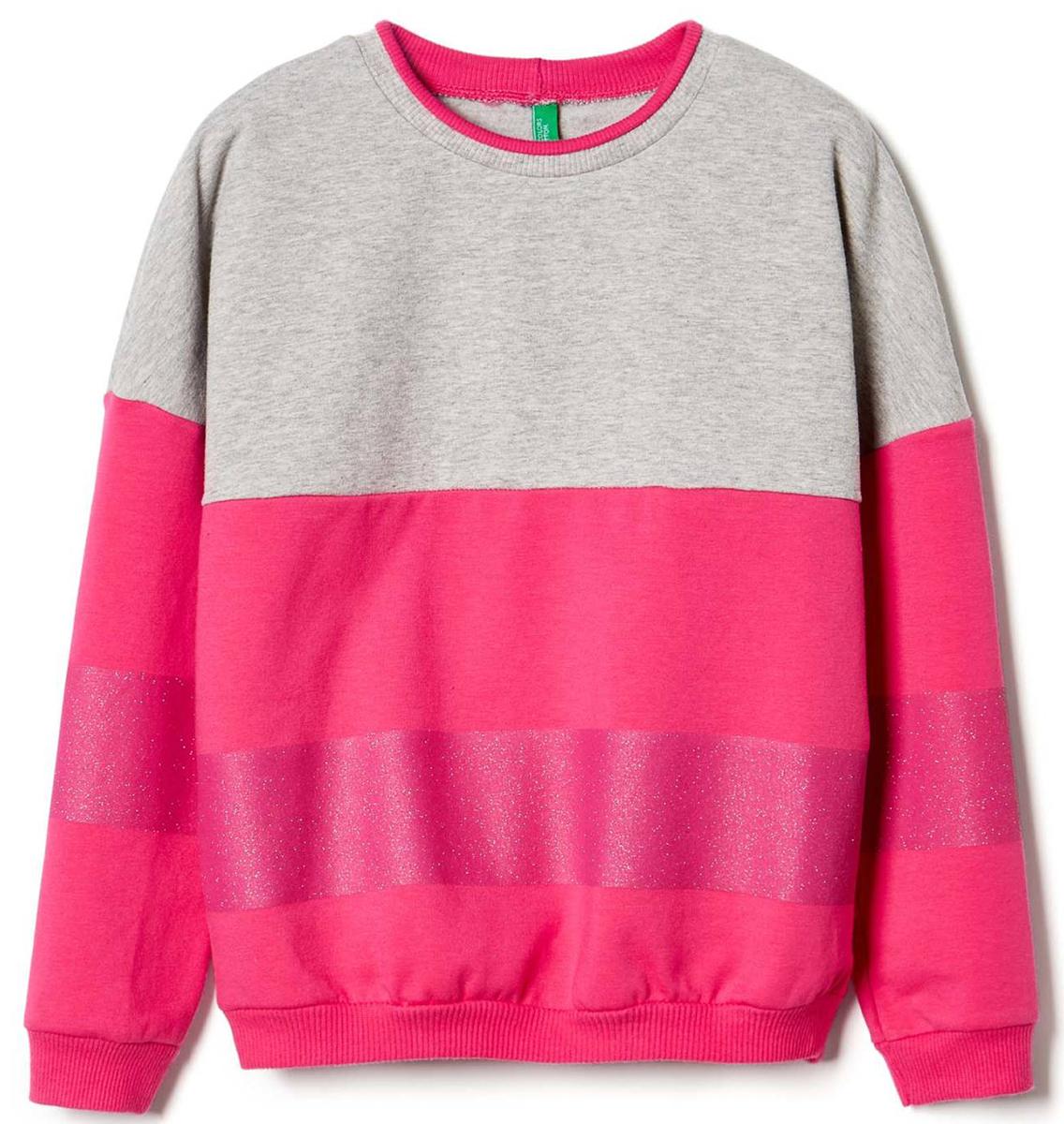 Свитер для девочек United Colors of Benetton, цвет: розовый. 3I1KC13AL_901. Размер 1503I1KC13AL_901