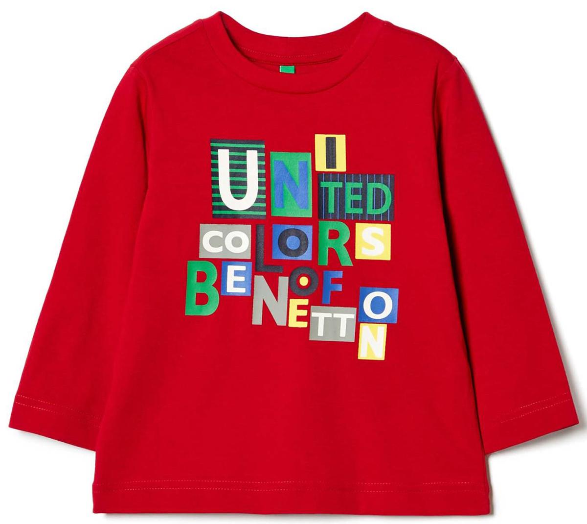 Лонгслив для мальчика United Colors of Benetton, цвет: красный. 3I1XC1389_07C. Размер 1603I1XC1389_07CЛонгслив для мальчика United Colors of Benetton выполнен из натурального хлопка. Модель с круглым вырезом горловины и длинными рукавами.