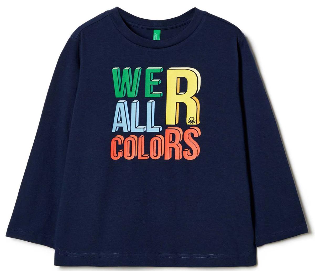 Майка для мальчиков United Colors of Benetton, цвет: синий. 3I1XC1389_13C. Размер 1303I1XC1389_13C