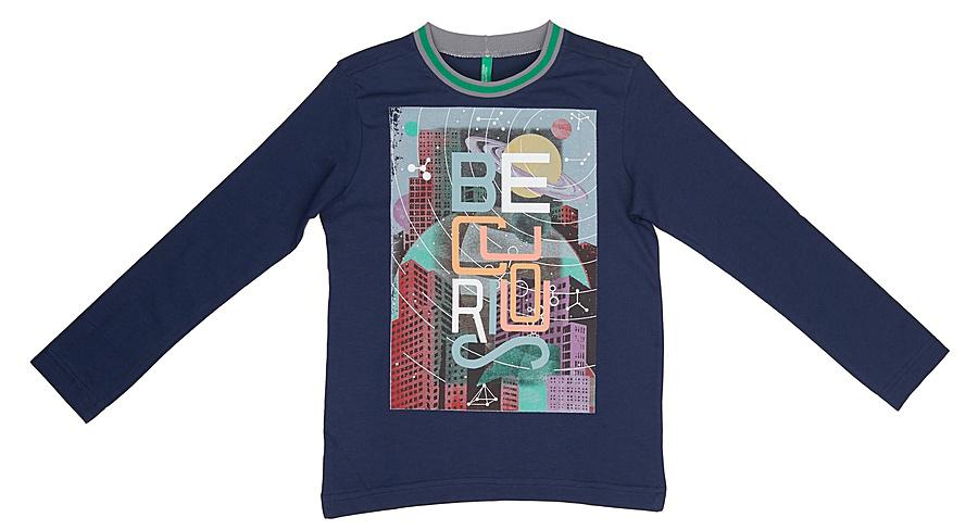 Лонгслив для мальчика United Colors of Benetton, цвет: синий. 3I1XC13GV_13C. Размер 1303I1XC13GV_13CЛонгслив для мальчика United Colors of Benetton выполнен из натурального хлопка. Модель с круглым вырезом горловины и длинными рукавами.