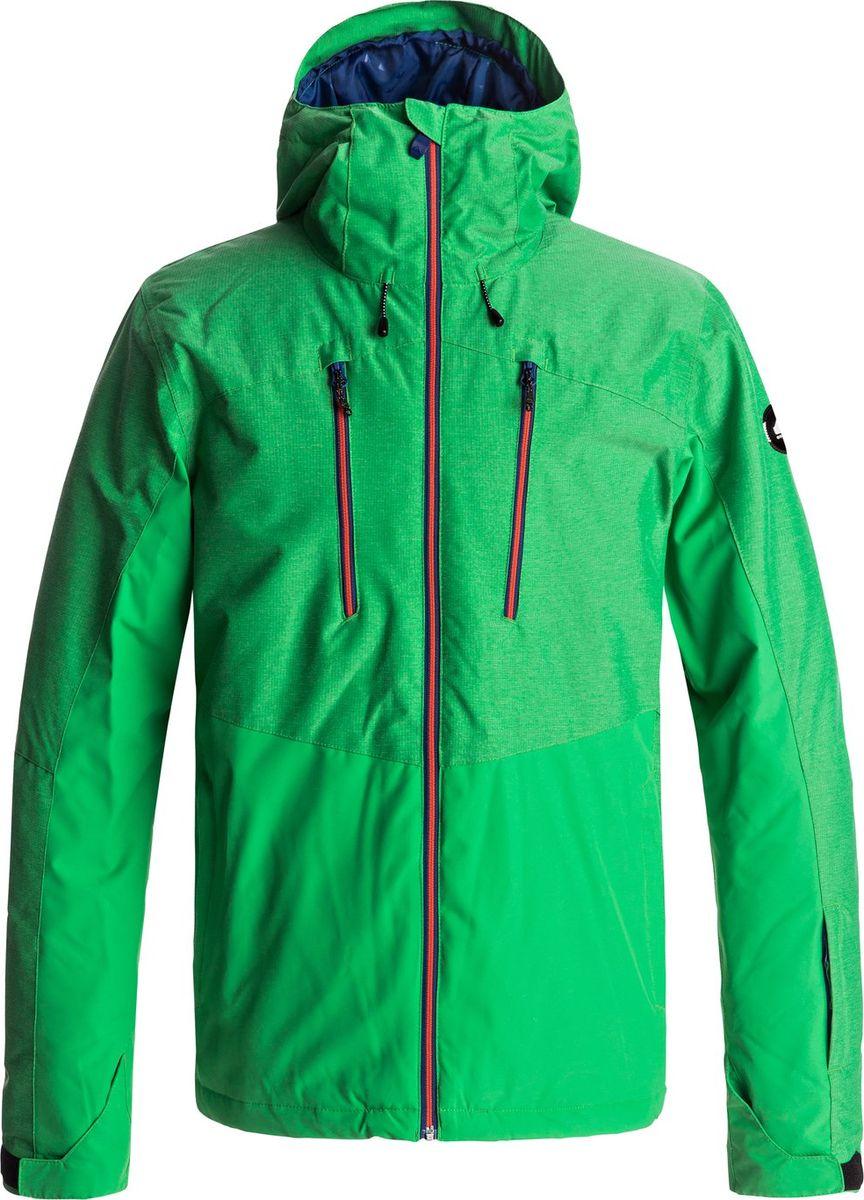 Куртка мужская Quiksilver Mission Plus, цвет: зеленый. EQYTJ03134-GNK0. Размер XXL (54) quiksilver куртка утепленная мужская quiksilver mission