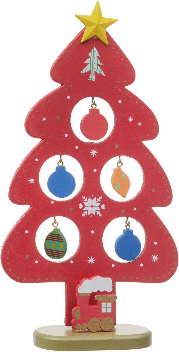 Украшение новогоднее Феникс-Презент Ель на подставке, высота 23 см35252Украшение новогоднее Феникс-Презент Ель на подставке гармонично впишется в праздничный интерьер вашего дома или офиса. Изделие, состоящее из ели на подставке и 5 игрушек, выполнено из качественного дерева.Новогодние украшения всегда несут в себе волшебство и красоту праздника. Создайте атмосферу тепла, веселья и радости.
