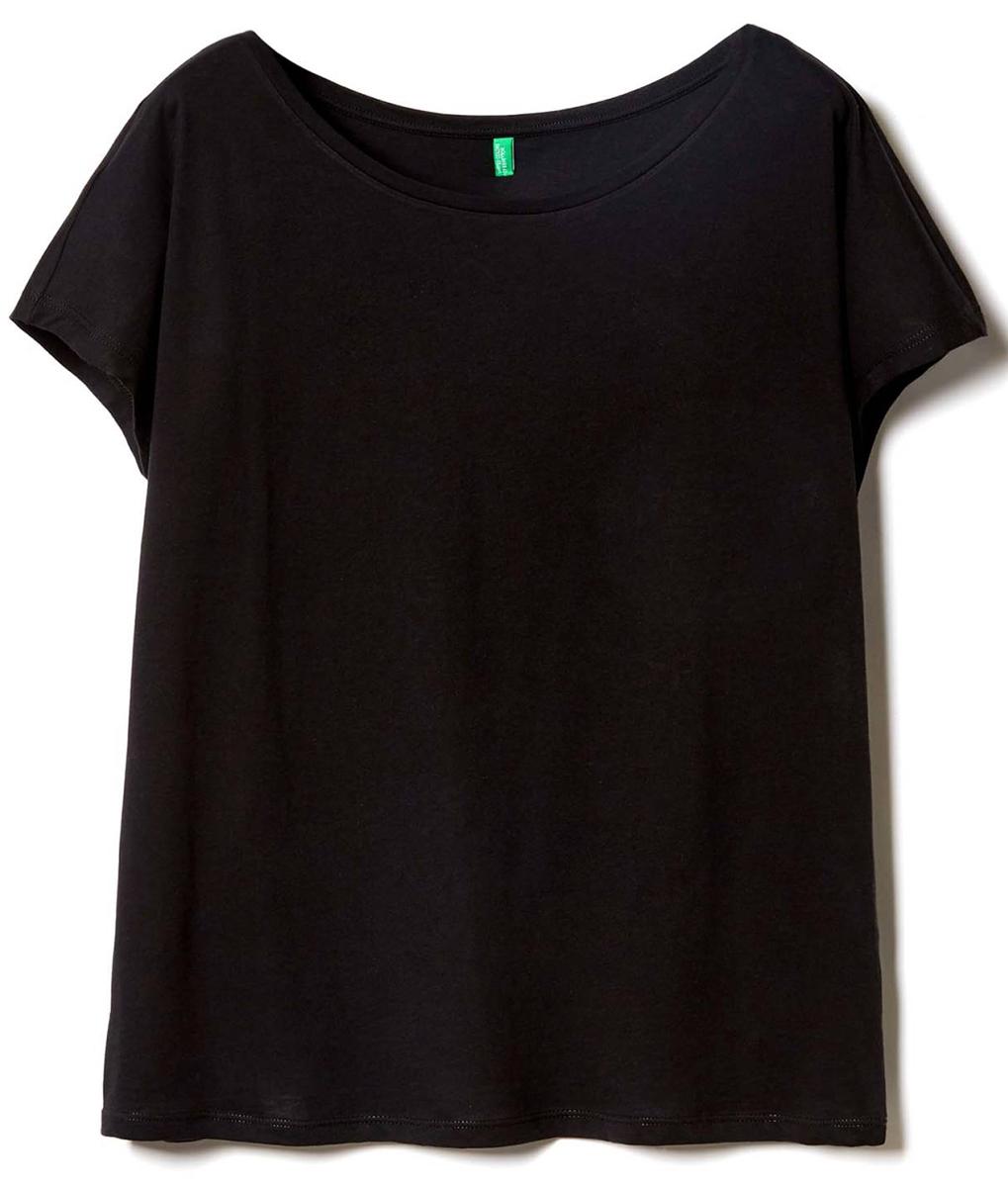 Свитер жен United Colors of Benetton, цвет: черный. 3I97E1L68_100. Размер XS (40/42)3I97E1L68_100