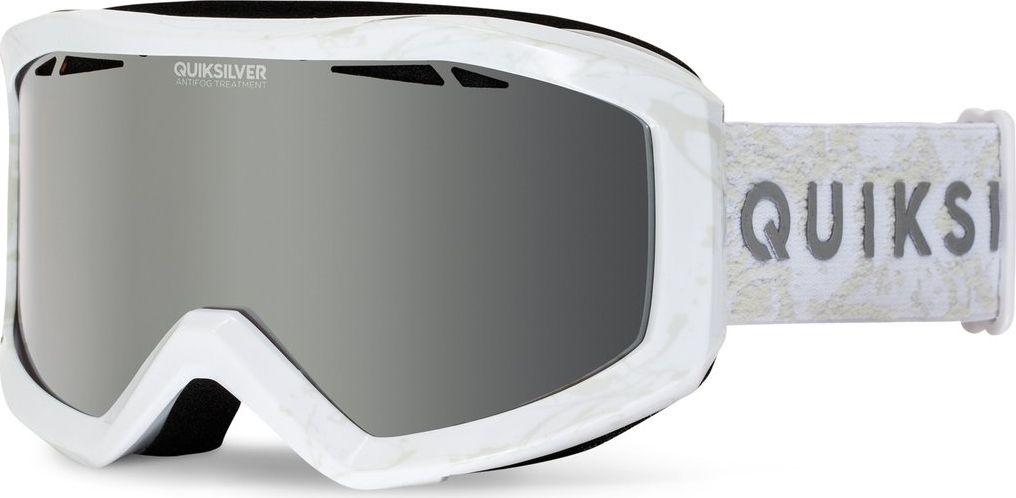 Сноубордическая маска Quiksilver Fenom, цвет: белыйEQYTG03044-WBK0Сноубордическая маска Quiksilver Fenom имеет линзу с антифоговой обработкой (не дает запотевать изнутри) + ударопрочная линза с нулевым искажением обзора + двойная линза (внешняя поликарбонатная и внутренняя хромированная).Оправа: полиуретановая.Вентиляция за счет перфорации под углом + подкладка из пенного полимера стандартной плотности и флиса.В комплекте универсальный зеркальный фильтр и дополнительный желтый (подходит для плохой погоды и низкой видимости).100%-ая защита от УФ излучения.