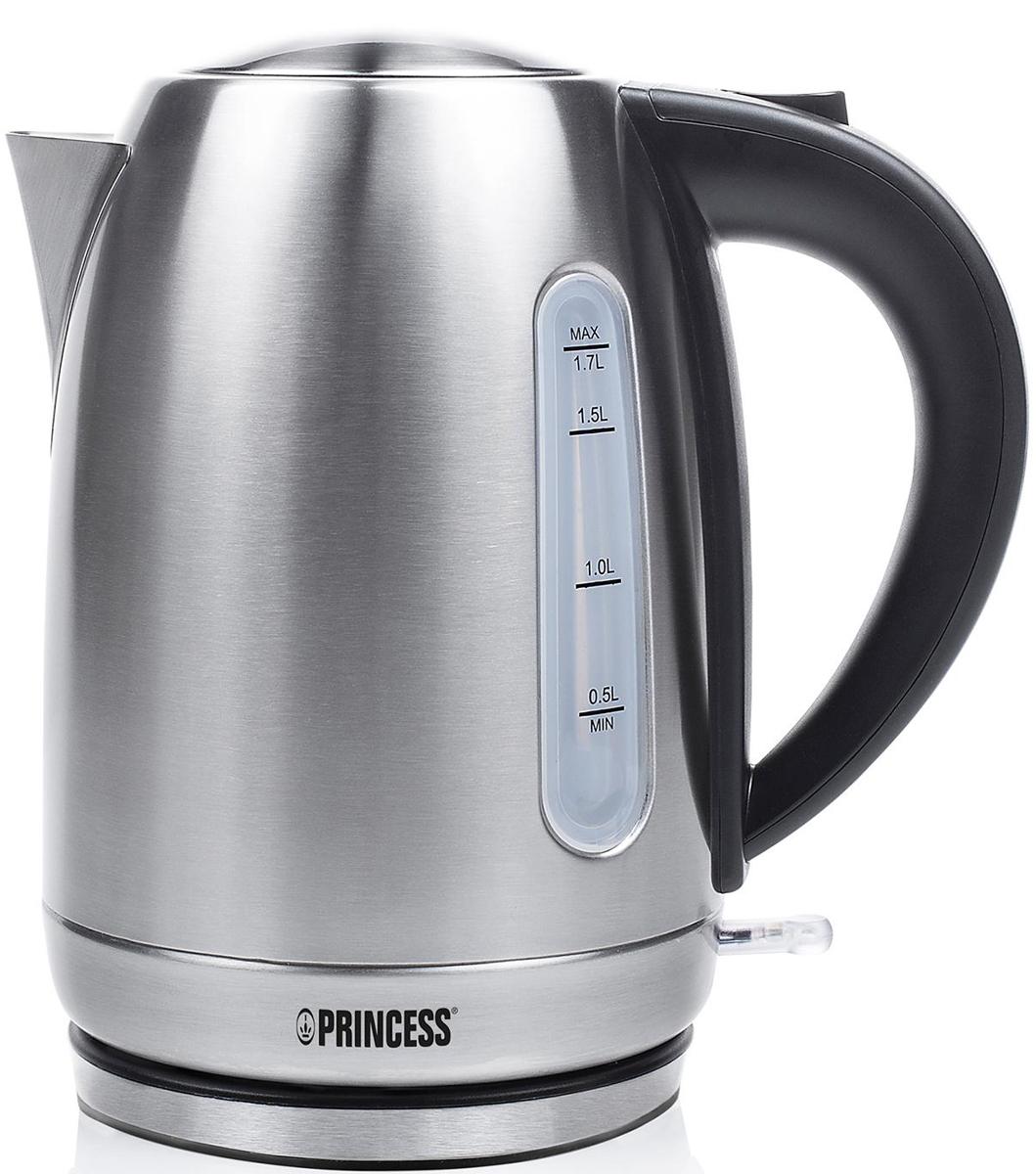 Princess 236018, Silver электрический чайник236018Электрочайник Princess 236018 имеет корпус из нержавеющей стали. Максимальный объем составляет 1,7 л, а мощность 1850-2200 Вт. Среди особенностей данной модели можно выделить закрытый нагревательный элемент, индикацию включения, вращение корпуса на 360 градусов и автоматическое отключение при недостаточном количестве воды.