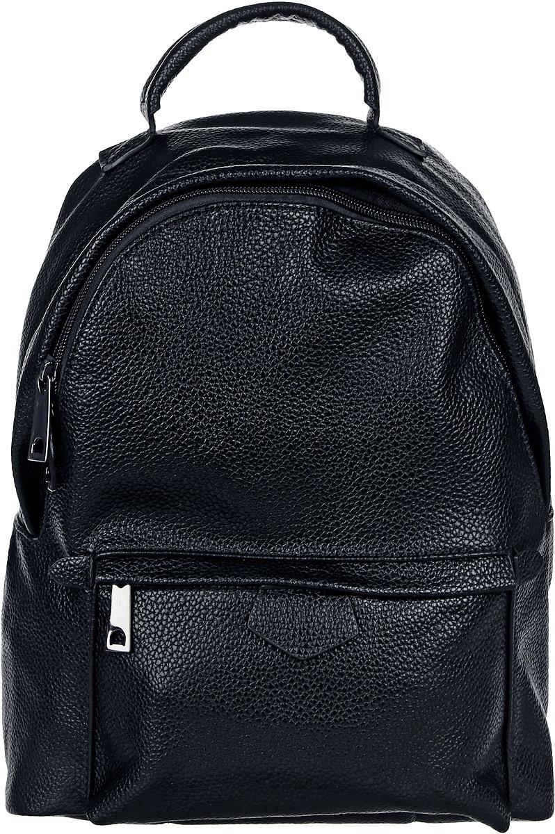 Рюкзак женский DDA, цвет: черный. DDA LB-2049BK рюкзак женский dda цвет песочный dda sb 1052 dg