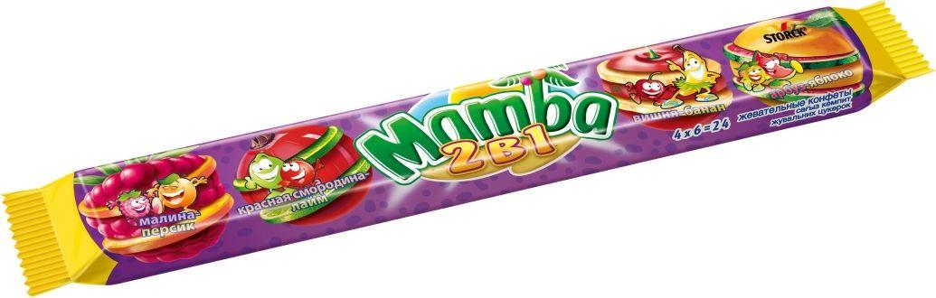 Mamba 2 в 1 жевательные конфеты, 106 г