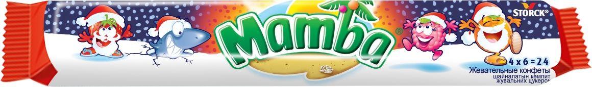 Mamba Новый Год жевательные конфеты, 106 г kinder mini mix подарочный набор 106 5 г
