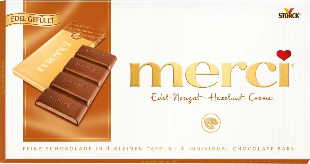 Merci Шоколад с ореховым кремом, 112 г жидкость сливки cover girl covergirl 3in1 810 30ml