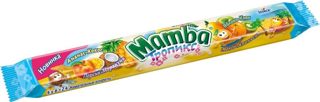 Mamba Тропикс Жевательная конфета, 106 г мамба букет из калл