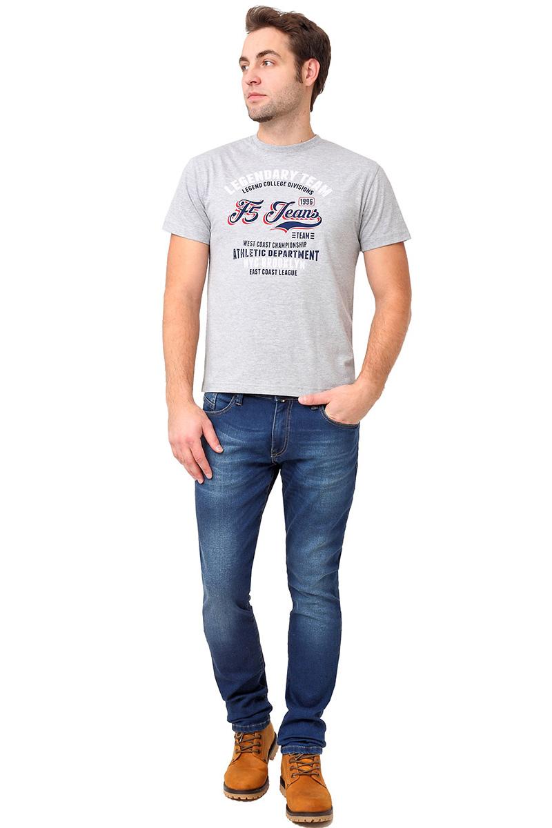 Футболка мужская F5 TR Melange F5 Team, цвет: серый. 270113. Размер XXL (54) футболка мужская f5 цвет синий 170092 02370 f5 размер m 48