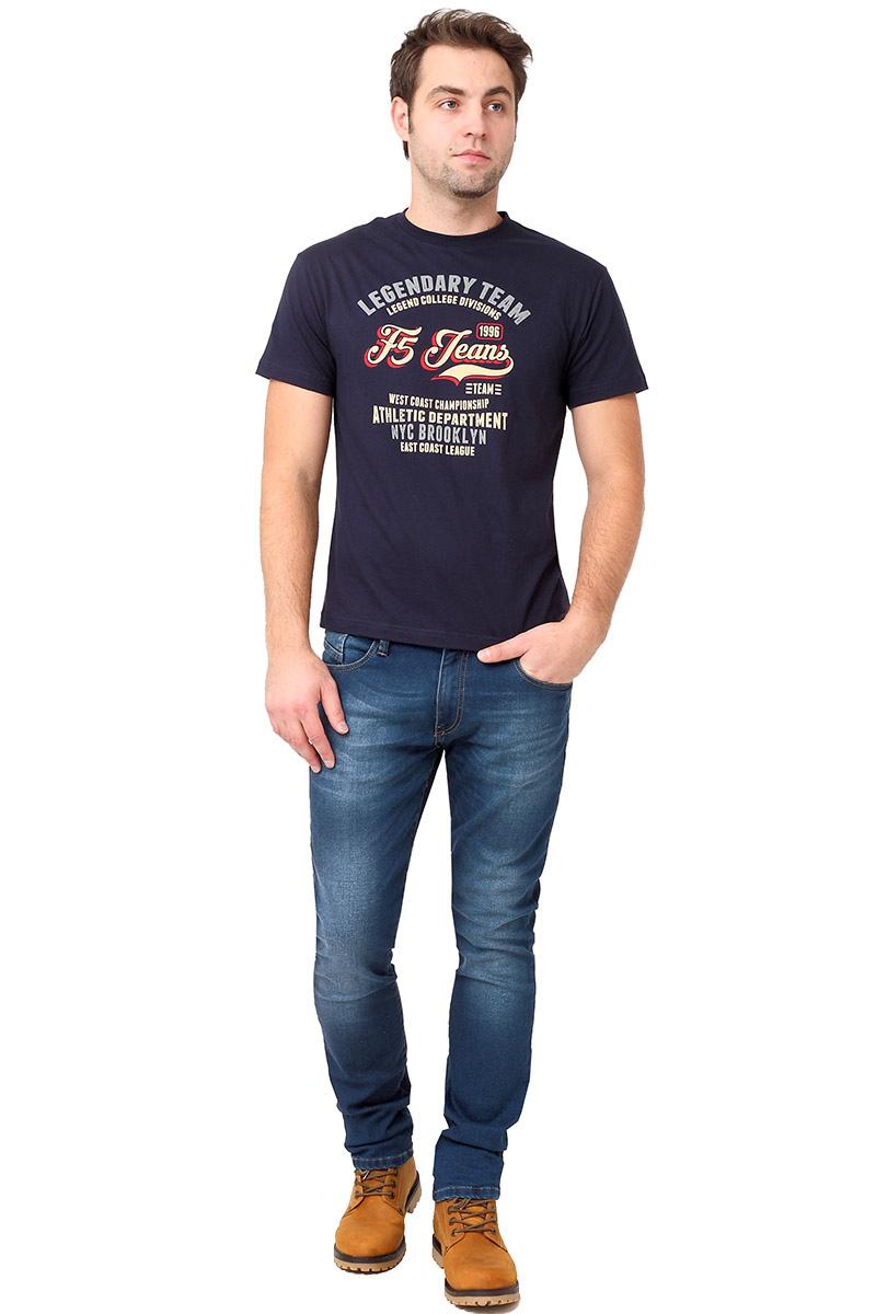 Футболка мужская F5 TR Plain F5 Team, цвет: синий. 270114. Размер XL (52) футболка мужская f5 цвет синий 170092 02370 f5 размер m 48