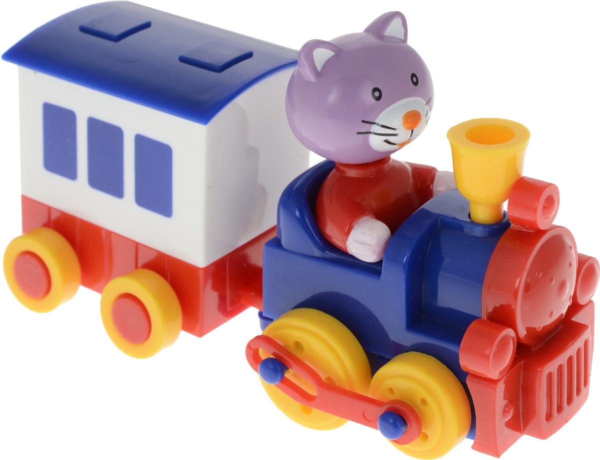 Hans Заводная игрушка Hans Паровозик с вагоном Котенок hans