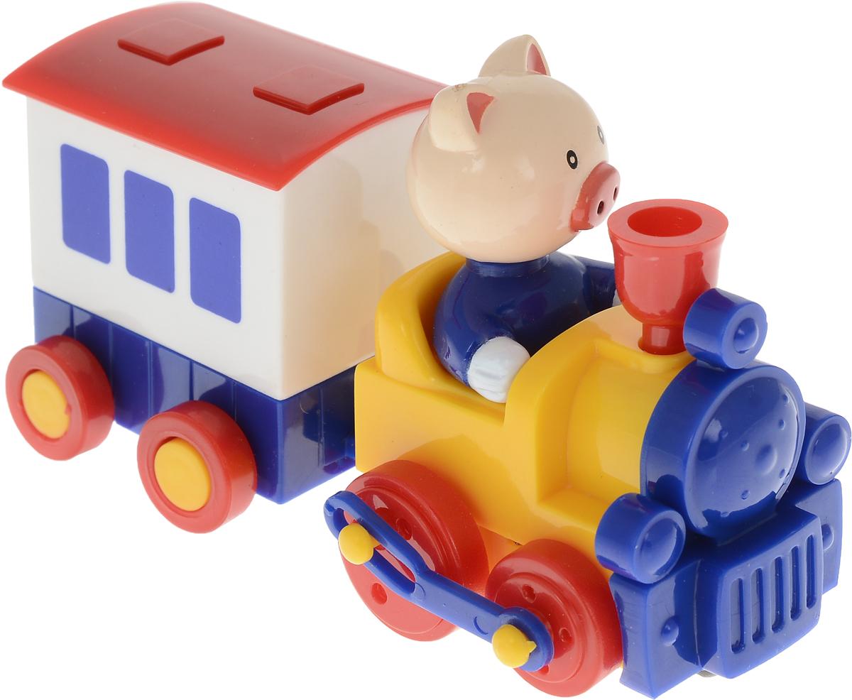Hans Заводная игрушка Паровозик с вагоном Поросенок ванден хейде с храбрый дикий поросенок