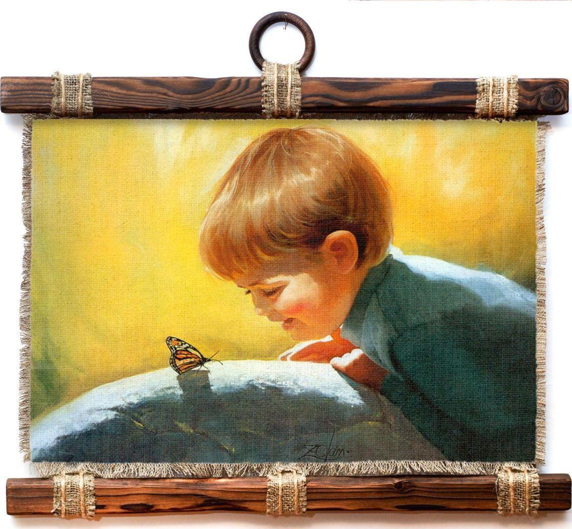 Украшение декоративное Универсальный cвиток Бабочка, подвесное, А4410-4-Г-Р