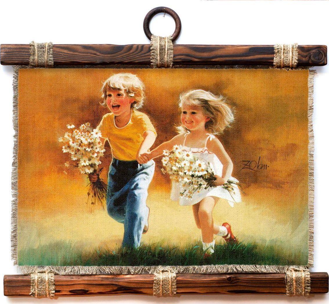 Украшение декоративное Универсальный cвиток Счастливое детство, подвесное, А4453-4-Г-Р