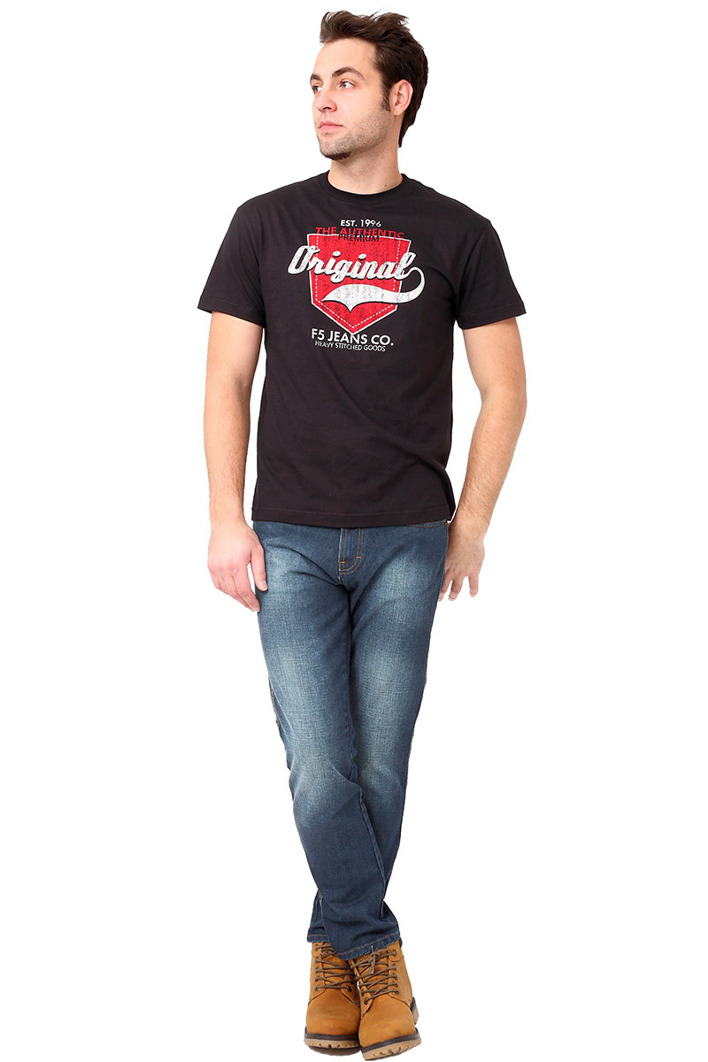 Футболка мужская F5 TR Plain Pocket, цвет: черный. 270108. Размер XL (52)270108_black