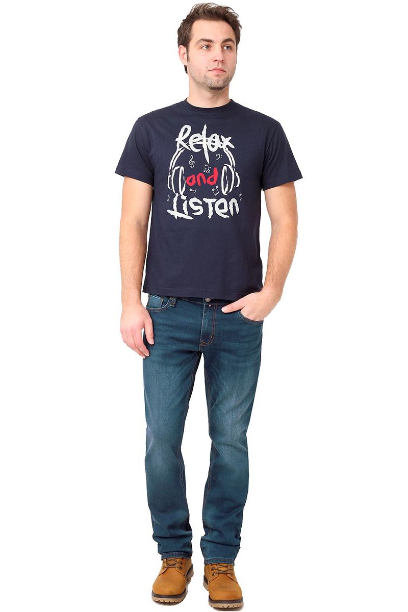 Футболка мужская F5 TR Plain Relax, цвет: синий. 270115. Размер 3XL (56)270115_navyСтильная мужская футболка F5 выполнена из натурального хлопка. Футболка с коротким рукавом и круглым вырезом горловины оформлена принтом.