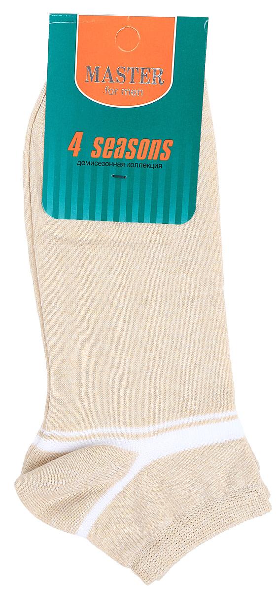 Носки мужские Master Socks, цвет: бежевый. 58034. Размер 2758034Удобные носки Master Socks, изготовленные из высококачественного комбинированного материала, очень мягкие и приятные на ощупь, позволяют коже дышать. Эластичная резинка плотно облегает ногу, не сдавливая ее, обеспечивая комфорт и удобство. Носки с укороченным паголенком оформлены геометрическим принтом на верхней части носка. Удобные и комфортные носки великолепно подойдут к любой вашей обуви.