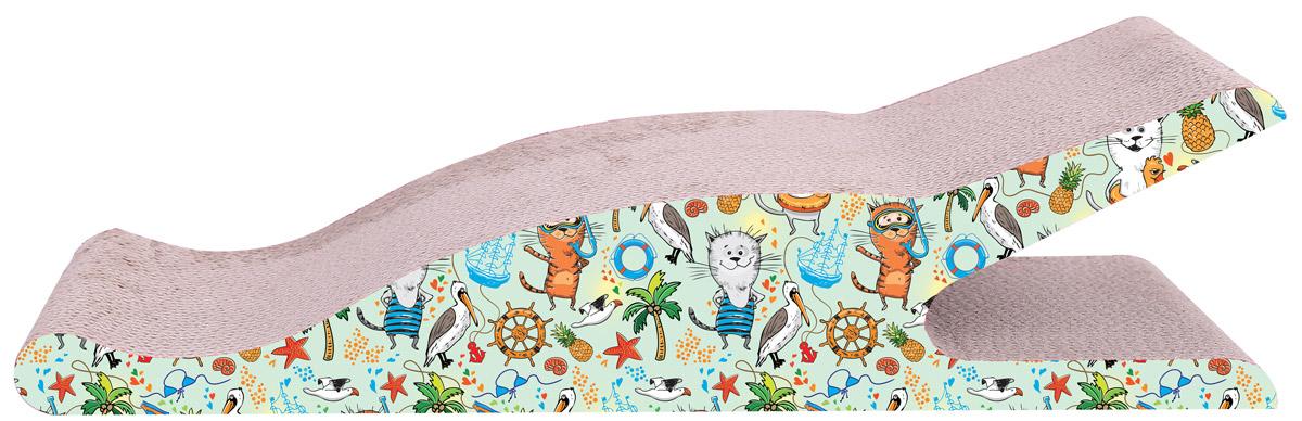 Когтеточка Aimigou, напольная, цвет: бежевый, салатовый. QQ50105QQ50105Когтеточка Aimigou поможет сохранить мебель и ковры в доме от когтей вашего любимца, стремящегося удовлетворить свою естественную потребность точить когти. Когтеточка изготовлена из качественного гофрокартона. Товар продуман в мельчайших деталях и, несомненно, понравится вашей кошке. Всем кошкам необходимо стачивать когти. Когтеточка - один из самых необходимых аксессуаров для кошки. Для приучения к когтеточке можно натереть ее сухой валерьянкой или кошачьей мятой. Когтеточка поможет вашему любимцу стачивать когти и при этом не портить вашу мебель. Размеры когтеточки: 50 х 25 х 13 см.
