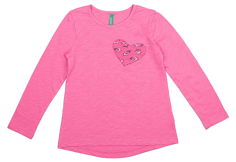 Майка для девочек United Colors of Benetton, цвет: розовый. 3XF7C13B8_2L8. Размер 1003XF7C13B8_2L8