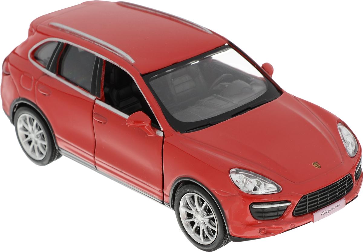 Autotime Модель автомобиля Porsche Cayenne Turbo цвет красный лицензионные диски фильмы купить