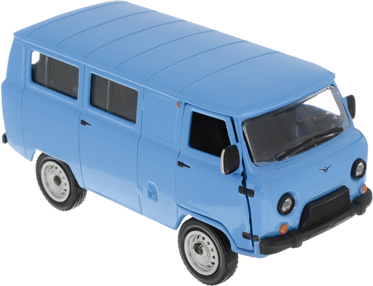 Autotime Модель автомобиля UAZ 39625 цвет голубой autotime collection 11446 уаз 31514 вдв