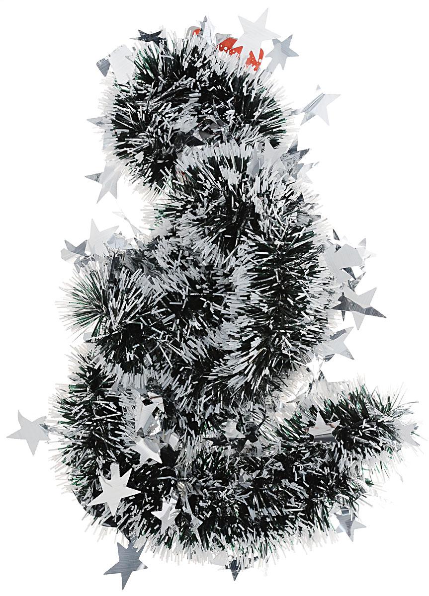 Мишура новогодняя Sima-land, цвет: белый, черный, диаметр 5 см, длина 2 м. 702616702616Мишура новогодняя Sima-land, выполненная из фольги, поможет вам украсить свой дом к предстоящим праздникам. Мишура армирована, то есть имеет проволоку внутри и способна сохранять приданную ей форму. Новогодняя елка с таким украшением станет еще наряднее. Новогодней мишурой можно украсить все, что угодно - елку, квартиру, дачу, офис - как внутри, так и снаружи. Можно сложить новогодние поздравления, буквы и цифры, мишурой можно украсить и дополнить гирлянды, можно выделить дверные колонны, оплести дверные проемы.