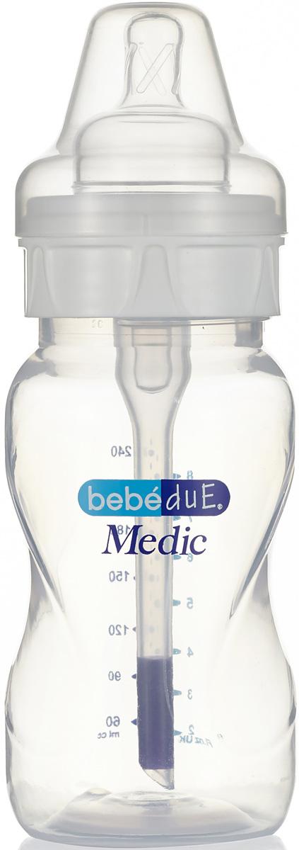 Bebe Due Medic Бутылочка с суперантиколиковой системой и термодатчиком 260 мл поильники bebe due чашка непроливайка bebe due medic