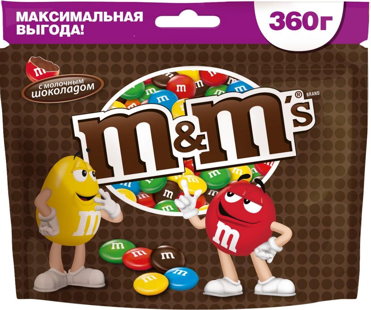 M&Ms драже с молочным шоколадом, 360 г79003023Драже M&Ms с молочным шоколадом - это больше веселых моментов для тебя и твоих друзей! Разноцветные драже можно съесть самому или разделить с друзьями. В любом случае, вкус отличного молочного шоколада подарит удовольствие и радость.Уважаемые клиенты! Обращаем ваше внимание на то, что упаковка может иметь несколько видов дизайна. Поставка осуществляется в зависимости от наличия на складе.