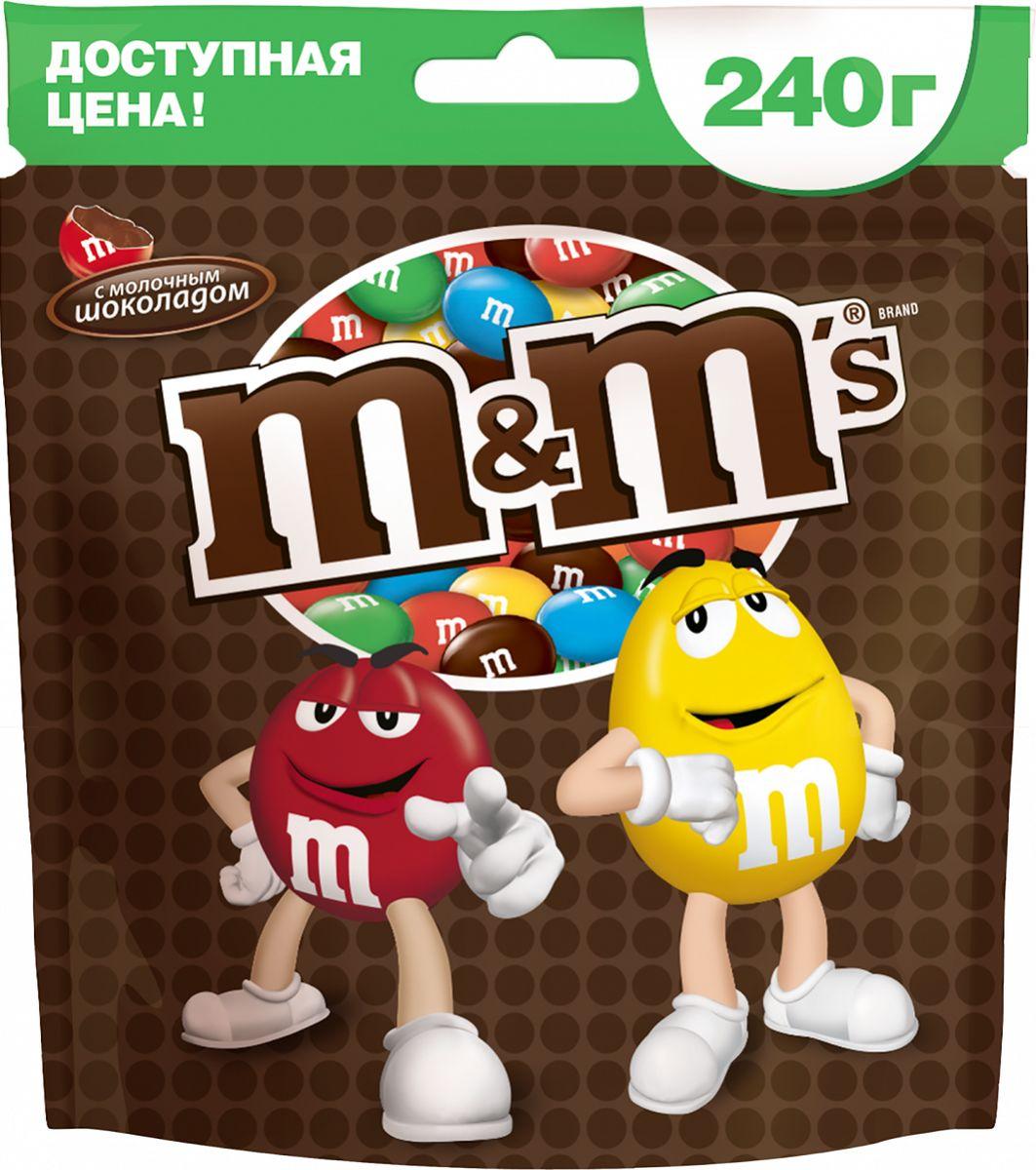 M&Ms драже с молочным шоколадом, 240 г10155569Драже M&Ms с шоколадом - это больше веселых моментов для тебя и твоих друзей! Разноцветные драже можно съесть самому или разделить с друзьями. В любом случае, вкус отличного молочного шоколада подарит тебе удовольствие и радость.Уважаемые клиенты! Обращаем ваше внимание на то, что упаковка может иметь несколько видов дизайна. Поставка осуществляется в зависимости от наличия на складе.