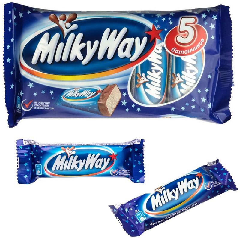 Milky Way Мультипак батончик, 130 г79010014Батончик Milky Way состоит из нуги, которая намного легче молока. Молочный шоколад, которым покрыт батончик, делает вкус Milky Way незабываемо нежным. Порадуйте юных сладкоежек!