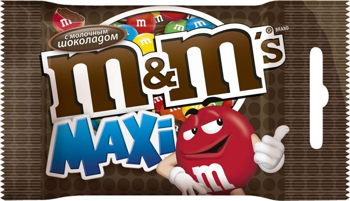 M&M's Maxi драже с молочным шоколадом, 70 г