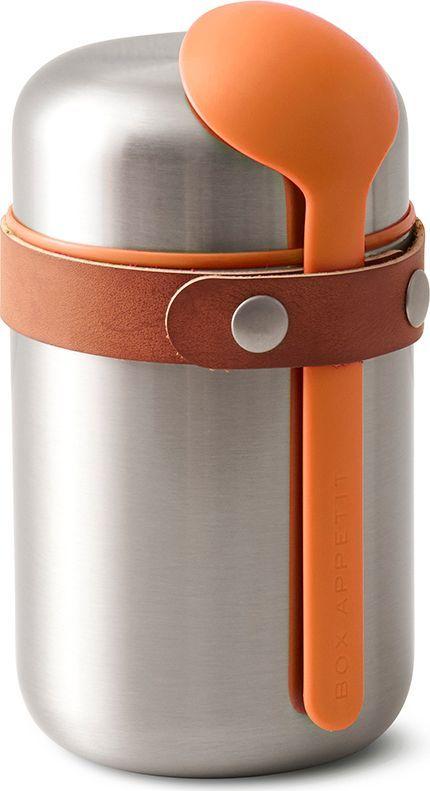 Термос для горячего Black+Blum Food Flask, цвет: оранжевый, 400 млBAM-FF-S003Компактный ланч-бокс для горячего поместится в сумку или рюкзак и всегда порадует теплой и вкусной едой. Современный дизайн сочетается с хорошей функциональностью. Вакуумная колба сохраняет пищу горячей до 6 часов или холодной до 8 часов. Плотная крышка предотвращает вытекание жидкости, создает дополнительную изоляцию.Корпус ланч-бокса выполнен из нержавеющей стали, устойчивой к коррозии. Специально разработанная форма ложки позволяет доставать пищу с самого дна. Яркий цвет лайма поднимает настроение и улучшает аппетит. После использования ложку можно пристегнуть обратно к ланч-боку с помощью ремня, изготовленного из веганской кожи.Объем: 400 мл.
