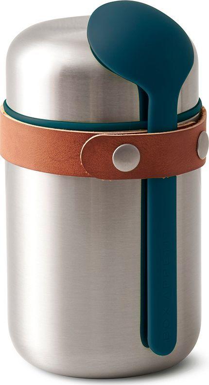 Термос для горячего Black+Blum Food Flask, цвет: бирюзовый, 400 млBAM-FF-S005Компактный ланч-бокс для горячего поместится в сумку или рюкзак и всегда порадует теплой и вкусной едой. Современный дизайн сочетается с хорошей функциональностью. Вакуумная колба сохраняет пищу горячей до 6 часов или холодной до 8 часов. Плотная крышка предотвращает вытекание жидкости, создает дополнительную изоляцию.Корпус ланч-бокса выполнен из нержавеющей стали, устойчивой к коррозии. Специально разработанная форма ложки позволяет доставать пищу с самого дна. Яркий цвет лайма поднимает настроение и улучшает аппетит. После использования ложку можно пристегнуть обратно к ланч-боку с помощью ремня, изготовленного из веганской кожи. Объем: 400 мл.