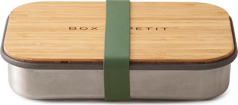 Сэндвич-бокс Black+Blum Box Appetit, цвет: оливковыйBAM-SB010Удобная коробка для сэндвичей Black+Blum Box Appetit из нержавеющей стали, дополненная бамбуковой крышкой и силиконовой лентой бирюзового цвета. Коробка Black+Blum Box Appetit подходит для хранения как уже готовых сэндвичей, так и отдельных продуктов, входящих в их состав. Антибактериальные свойства бамбука позволяют использовать крышку коробки в качестве разделочной доски, на которой блюдо можно приготовить непосредственно перед подачей. Нержавеющая сталь, из которой выполнен корпус бокса, сохранит свой внешний вид даже в сложных условиях эксплуатации. А силиконовая лента-перетяжка герметично зафиксирует крышку на корпусе. Она легко моется и также очень долговечна.Сэндвич-бокс Black+Blum Box Appetit - удобное решение для тех, кто покупным предпочитает свежие сэндвичи из-под ножа. Самые оригинальные ингредиенты теперь можно взять с собой и приготовить изысканный деликатес в любом удобном месте: в офисе, школе, университете или прямо на траве во время пикника. Красивый и стильный он выделит своего обладателя из толпы и покажет его как человека, разбирающегося в хорошем дизайне. Основой же этих преимуществ станет высокое качество материалов, благодаря которому сэндвич-бокс прослужит долгие годы.