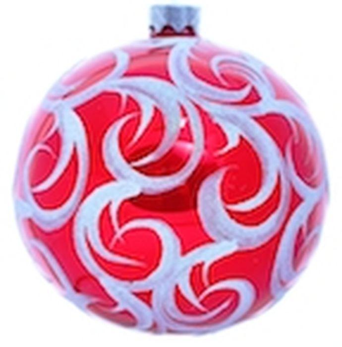 Украшение новогоднее подвесное Клавдиево Иней на красном, ручная работа, диаметр 10 смH-100-2984-S-Иней на красномЕлочная игрушка - символ приближающегося праздника. Она послужит прекрасным подарком как для ребенка, так и для взрослого, а также дополнит новогодний интерьер. Шары будут отлично смотреться на праздничной елке.