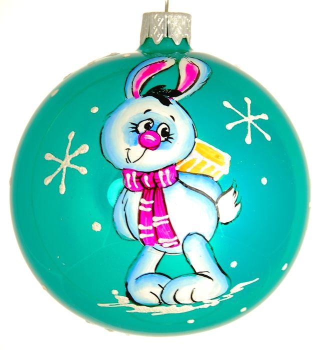 Украшение новогоднее подвесное Клавдиево Милый зайка, ручная работа, диаметр 8 смH-80-28209-S-Милый зайкаЕлочная игрушка - символ приближающегося праздника. Она послужит прекрасным подарком как для ребенка, так и для взрослого, а также дополнит новогодний интерьер. Шары будут отлично смотреться на праздничной елке.