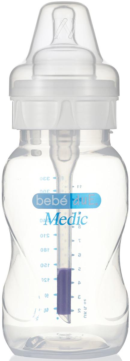 Bebe Due Medic Бутылочка с суперантиколиковой системой и термодатчиком 330 мл поильники bebe due чашка непроливайка bebe due medic