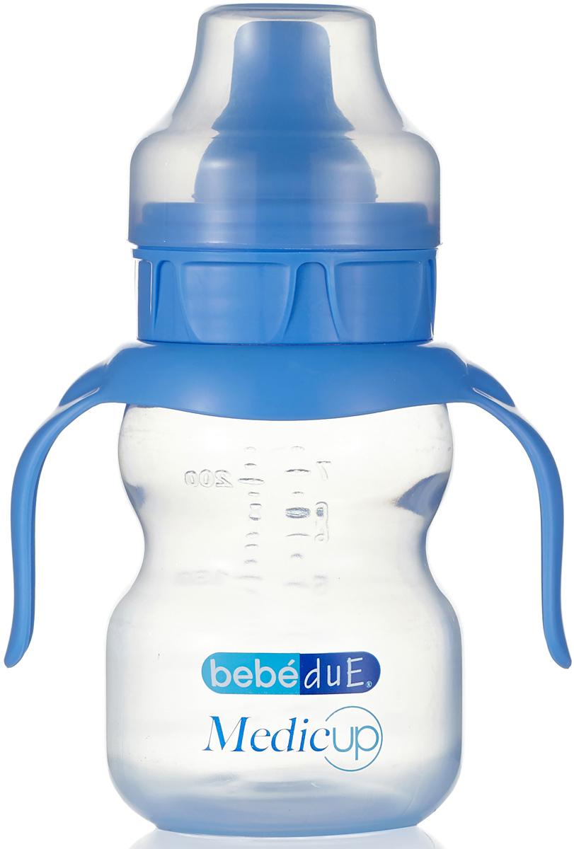 Bebe Due Medic Чашка-непроливайка цвет: голубой, 0+ месяцев, 220 мл поильники bebe due чашка непроливайка bebe due medic