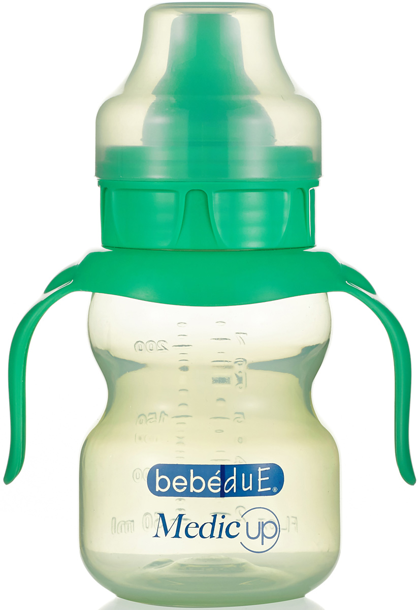 Bebe Due Medic Чашка-непроливайка цвет зеленый 0+ месяцев 220 мл поильники bebe due чашка непроливайка bebe due medic