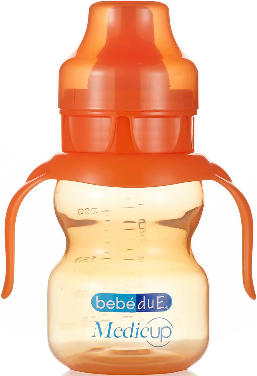 Bebe Due Medic Чашка-непроливайка цвет оранжевый 0+ месяцев 220 мл поильники bebe due чашка непроливайка bebe due medic