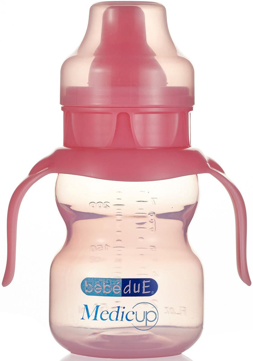 Bebe Due Medic Чашка-непроливайка цвет: розовый, 0+ месяцев, 220 мл поильники bebe due чашка непроливайка bebe due medic