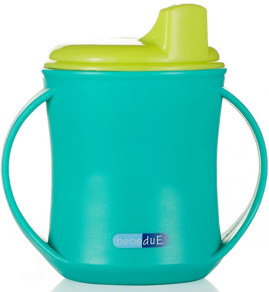 Bebe Due Чашка-поильник 2в1 210 мл цвет бирюзовый салатовый с 18 месяцев поильники bebe due чашка непроливайка bebe due medic