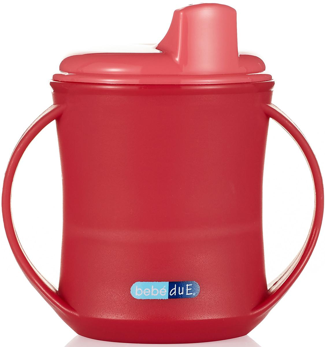 Bebe Due Чашка-поильник 2в1 210 мл цвет розовый красный с 18 месяцев поильники bebe due чашка непроливайка bebe due medic