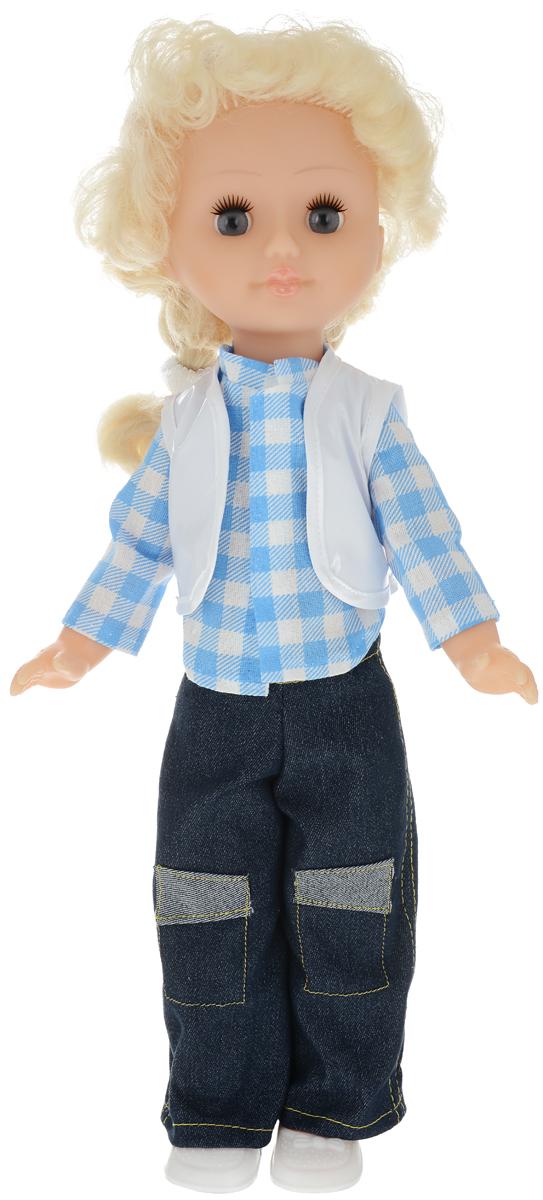Пластмастер Кукла озвученная Наташа цвет одежды белый голубой темно-синий